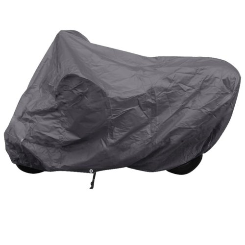 vidaXL Motorcycle Cover Grey Polyester Motorbike Shelter Protector Hand Tool