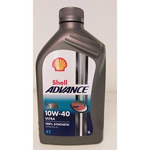 Royal Dutch Shell Lubricants 550044447 Shell Advance 4T Ultra 10w/40 Synthetic Motorcycle Oil