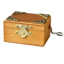 Mini Music Box Retro Style Wooden Music Box Height Approx 1.6 Inch