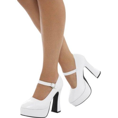 Smiffy's 43075l 70's Ladies Platform Shoe (uk 6/us 9) -  ladies 70s platform shoes adults 60s gogo boots hippie fancy dress accessory