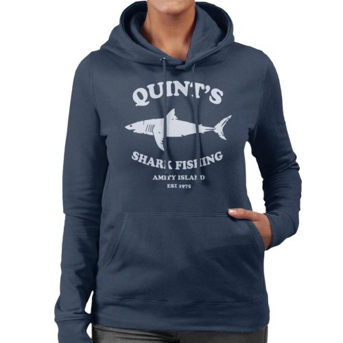 Quints Shark Fishing Amity Island Jaws Women's Hooded Sweatshirt