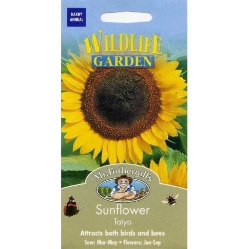 Mr Fothergills - Pictorial Packet - Flower - Sunflower Taiyo - 50 Seeds