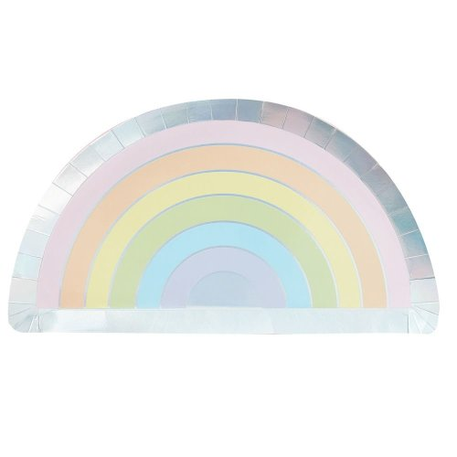 Pastel Party Paper Plates x 8 Partyware