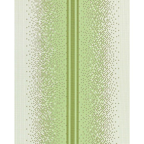 EDEM 1023-15 vinyl wallpaper textured mosaic tile stone stripe decor white green