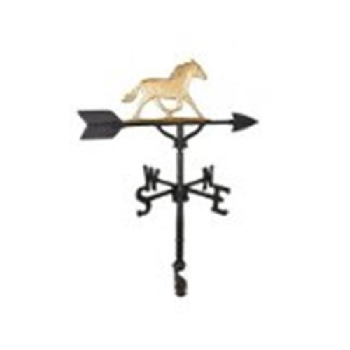 Montague Metal Products WV-274-GB 200 Series 32 In. Gold Horse Weathervane