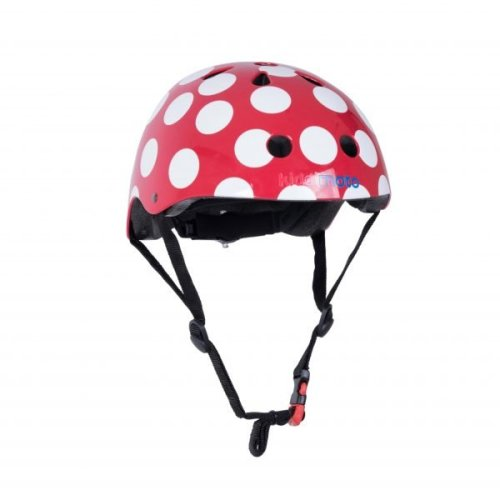 Kiddimoto Children's Bike / Scooter / Skateboarding Helmet - Red Dotty Design