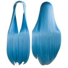 Center Parting Long Straight Cosplay Wig for Halloween Anime Fans [Blue]