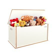 Little Helper Room Tidy Toy Box with Slow Release Lid (White)