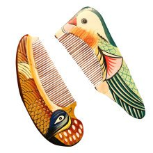 Natural Wooden Comb/Best Choice Of Gift Giving/Chinese Style(Mandarin Duck)