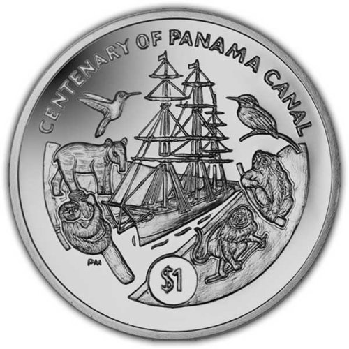 British Virgin Islands 2014 Centenary of the Panama Canal Unc. CuNi Coin
