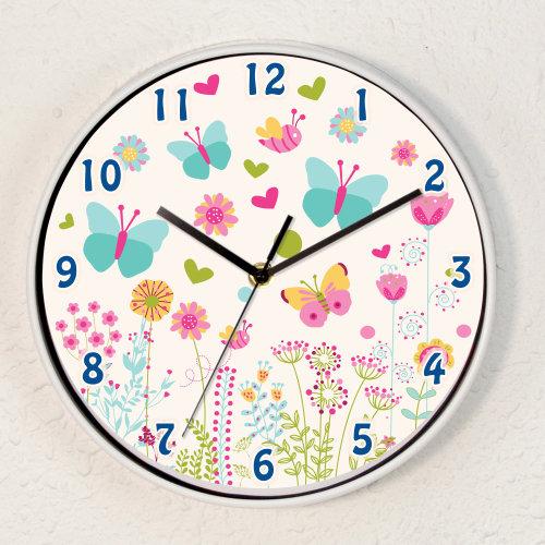 Summer Dream Children Wall Clock Kids Room