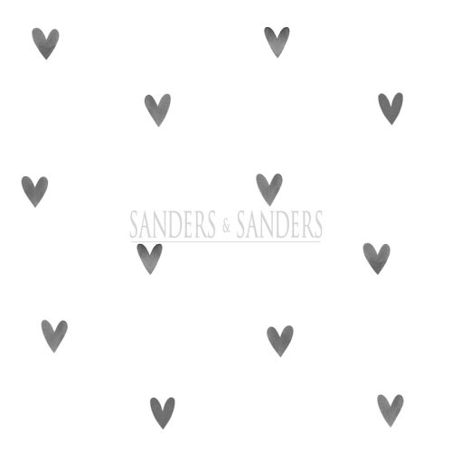 wallpaper little hearts black and white - 935267 - from Sanders & Sanders