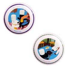 Set Of 2 Ceramic Cartoon  Animal Round  Dishes  Chicken Dishes,Blue