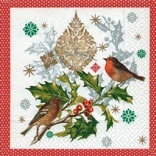 Paper+Design Pack of 20 Napkins / Serviettes - Wintersong Birds - 33cm x 33cm - 3ply