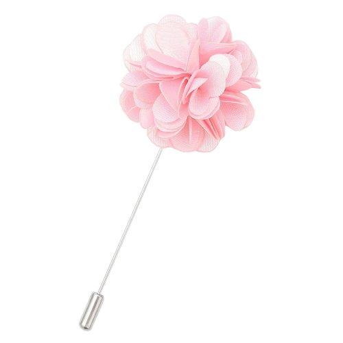 Baby Pink Plain Satin Lapel Pin