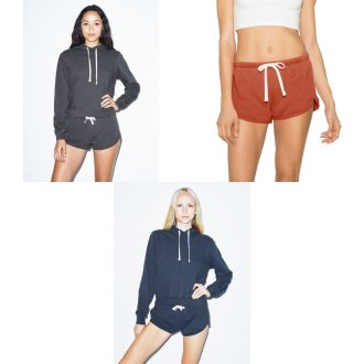 American Apparel Womens/Ladies French Terry Running Shorts