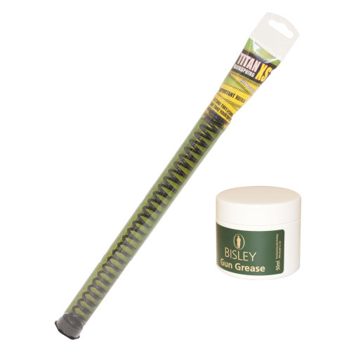 Titan XS mainspring all sizes Air rifle spring tempered steel with Bisley Grease