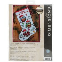 Dimensions Needlecrafts Holiday Hooties Stocking Counted Cross Stitch Kit