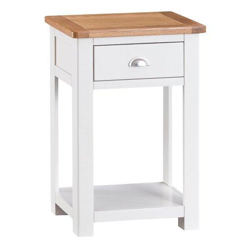 Portland White Painted Oak Telephone Table