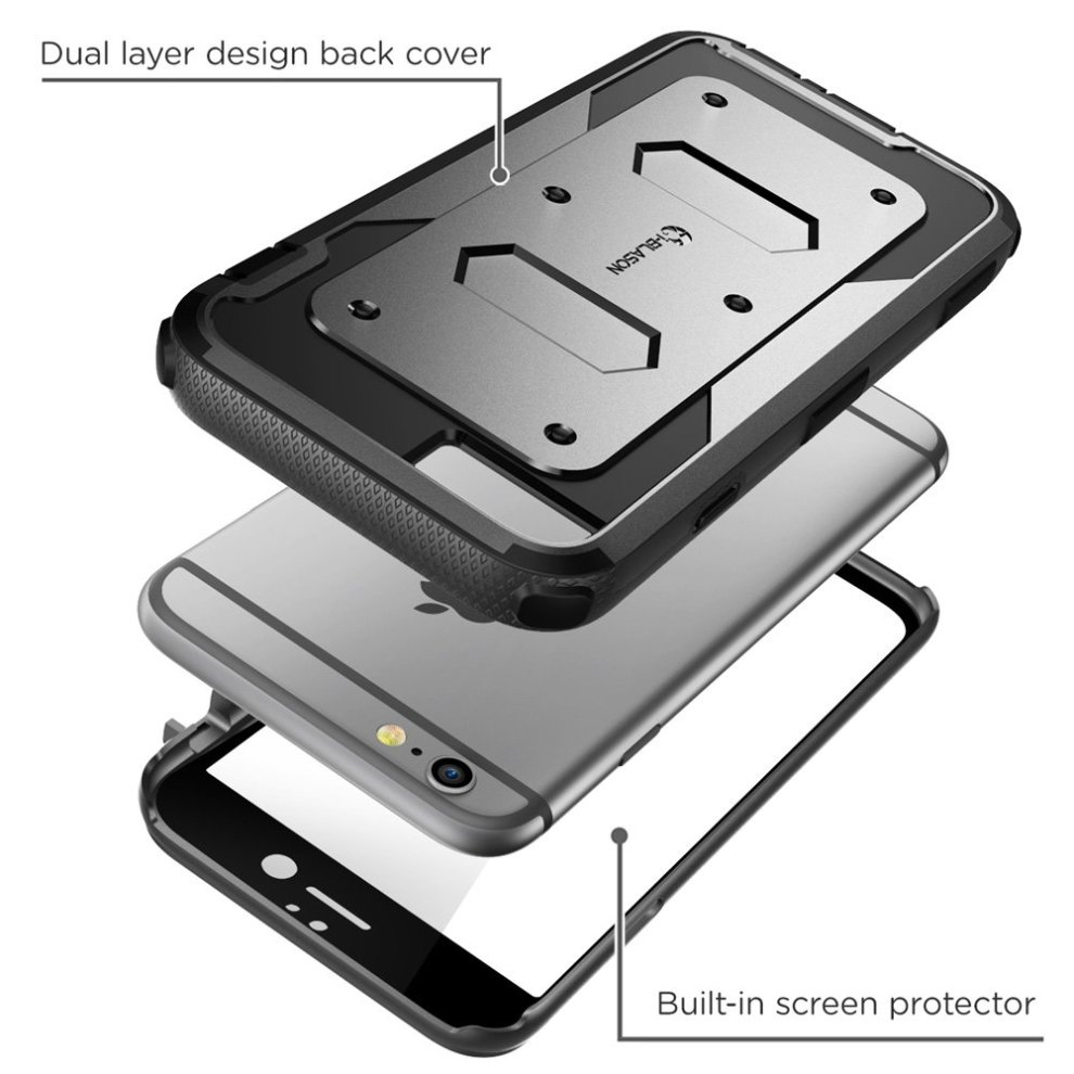promo code d4f5a ea2bc iPhone 6S Case, [Heave Duty] i-Blason Apple iPhone 6 Case 4.7 Inch Armorbox  [Dual Layer] Hybrid Full-body Protective Case with Front Cover and...