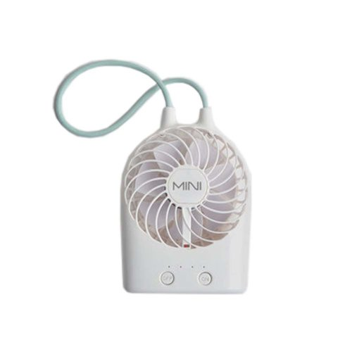 USB Rechargeable Fan Portable Fan Desk Fan for Office/Home, White