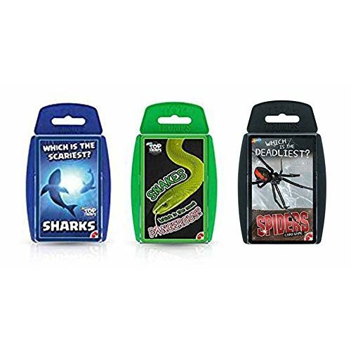 Top Trumps Sharks, Snakes and Spiders Card Game Bundle