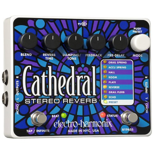 Electro Harmonix Cathedral Deluxe Reverb Effects Pedal