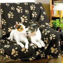Trixie Barney Fleece Blanket, 150 100 Cm, Black/ Beige - Blanket Dogcm Black -  barney blanket trixie fleece 150 dog 100 cm blackbeige