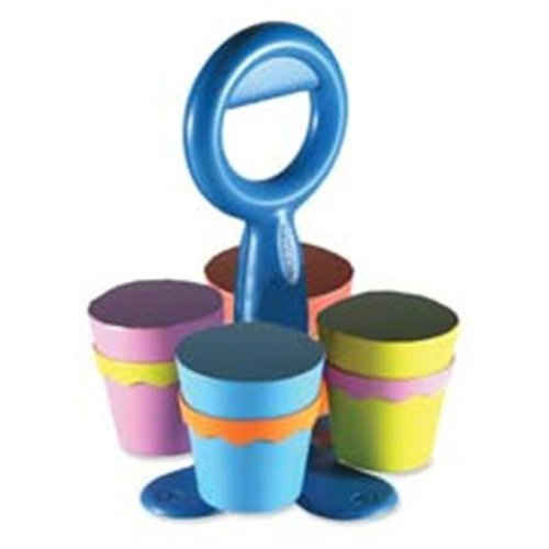 Acme United Corporation ACM14754 Scissor Caddy- w-4 Removable Cups- Assorted