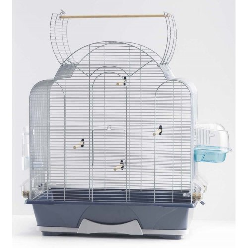 Melodie 50 Open Top Bird Cage Silver 64x38x73.5cm