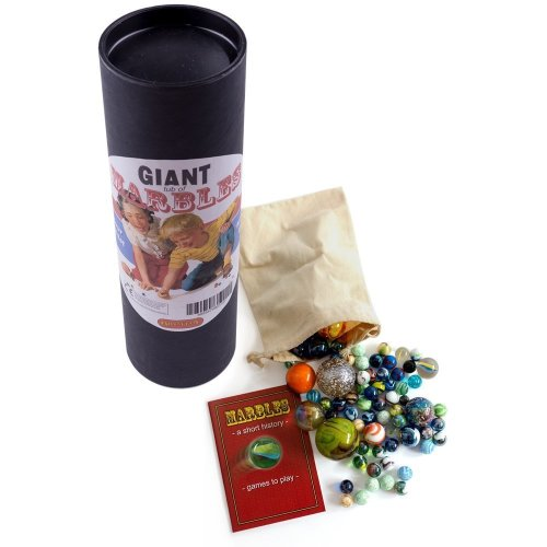 Brimtoy  Giant Marbles Tub Hand Picked Glass with Bag Booklet