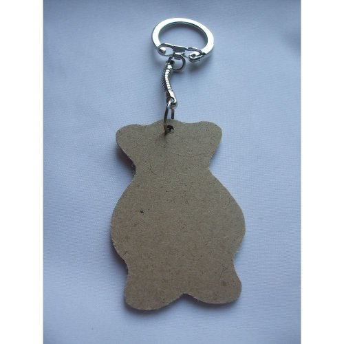 MDF Wooden Keyring For Decoration - Bear Shaped