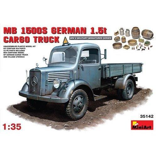 Miniart 1:35 Scale L1500S German 1.5t 4x2 Cargo Truck Plastic Model Kit (Grey)