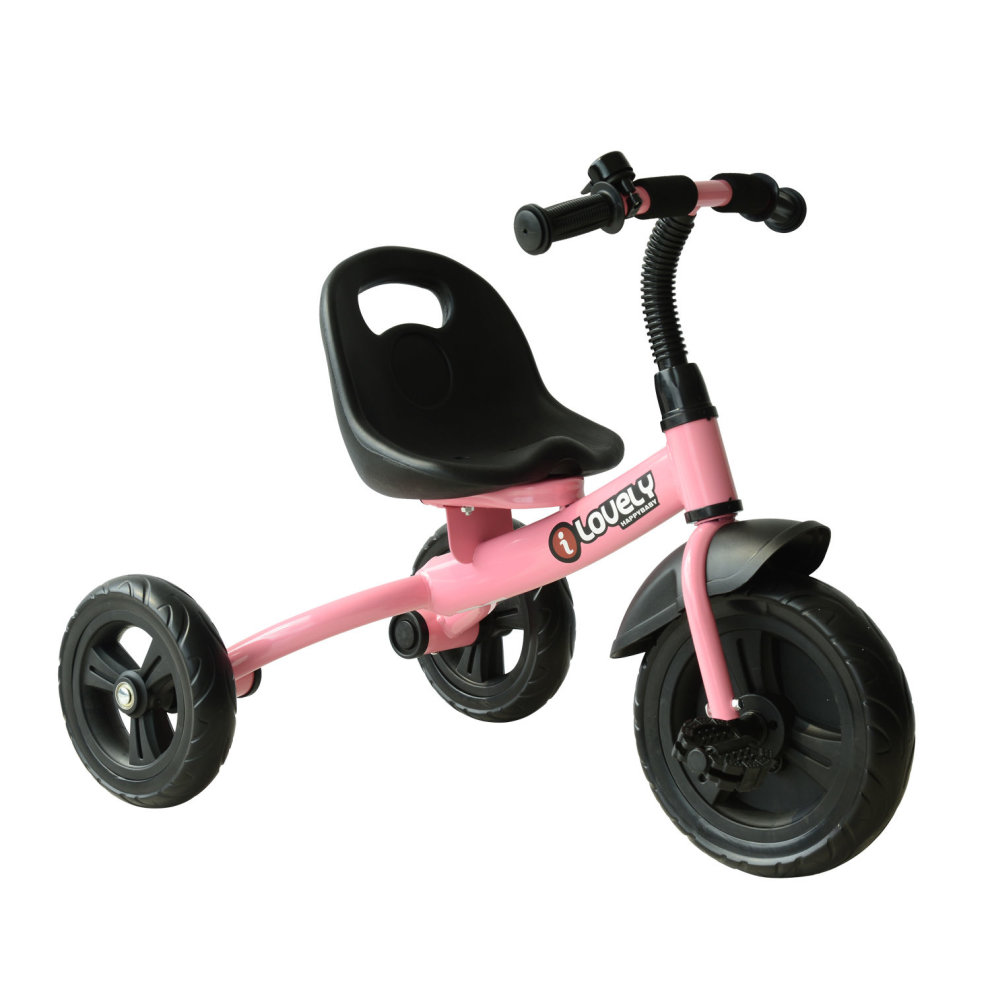 Homcom Ride On Toddler Tricycle Pink Toddler 3 Wheel Bike On Onbuy