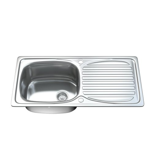 Dihl 1002 1.0 Single Bowl Stainless Steel Kitchen Sink, Drainer & Waste