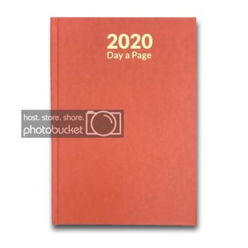 2020 Diary A4 Page a day or DAY a Page Diary Hardback DAP  (Sat & Sun - Full Page a DAY)