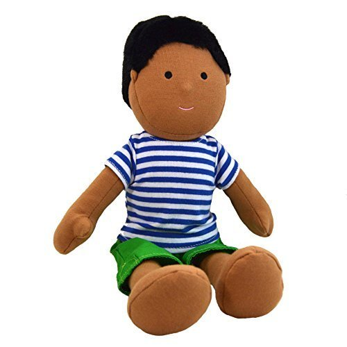 One Dear World 32cm Soft Rag Doll - South Asian Boy Parth with Removable Clothes for Toddlers and Young Children