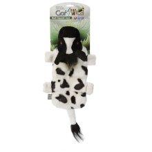 Gor Pets Dog Toy, Wild Multi-Squeak Cow 30cm