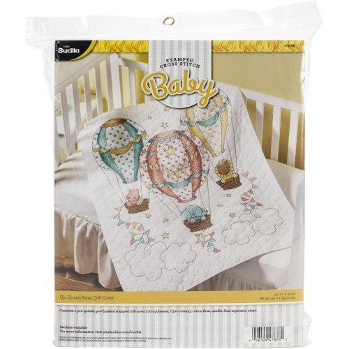 "Bucilla Stamped Crib Cover Cross Stitch Kit 34""X43""-Up, Up & Away"
