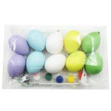 Ten Multi Colored Easter Eggs/Plastic/Painting/Children DIY Eggs