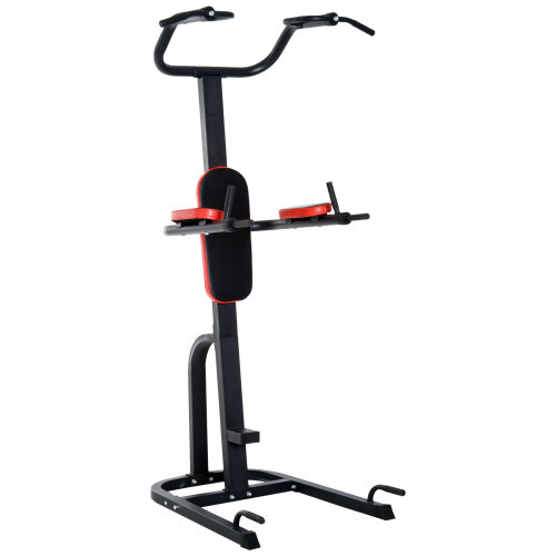 HOMCOM Power Tower Multi Function Push-Up Pull-Up Dip Station Home Gym