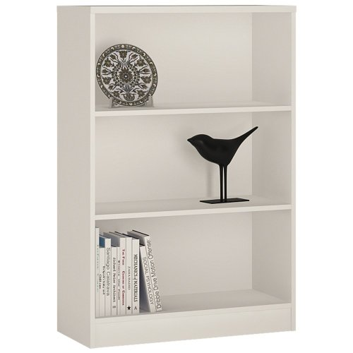 4 You Medium Wide Bookcase In Pearl White