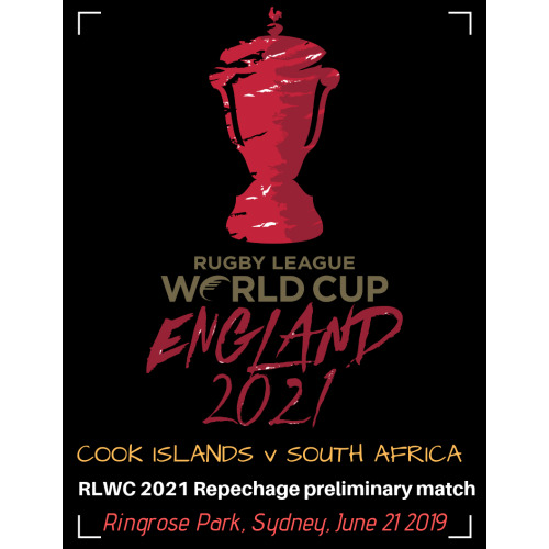 2021 Rugby League World Cup qualifier: South Africa v Cook Islands programme