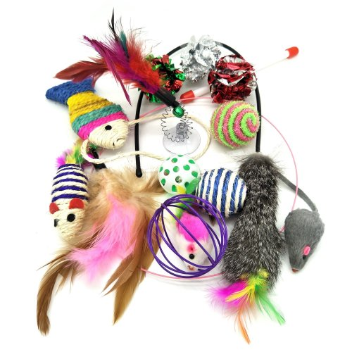Cat Toys, PietyPet Pet toys Variety Pack for Cat Kitten Kitty 13 pieces