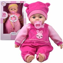 18 inch Soft Bodied Baby Doll - Makes 16 Sounds with Dummy and Toy