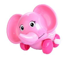 Set of 2 Cute Animals Wind-up Toy for Baby/Toddler/kids, Elephant(Color Random)