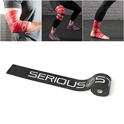 Serious Steel BLACK Mobility Recovery Floss Bands Compression Tack Flossing Heavy 051 X 2 x 7