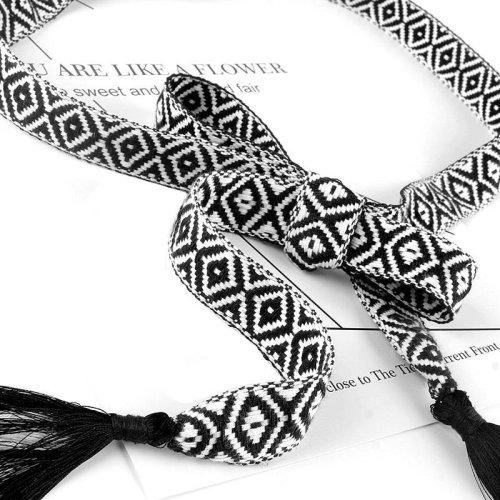 fashion knitted belts for women weave cotton rope with tassel cummerbunds for dresses female string fringe waistband belts