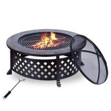 Outsunny Outdoor Garden Firepit Bbq Round Brazier Patio Heater