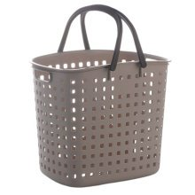 Household Storage Basket Clothes/Toys Organizer Chest with Handle, Grey